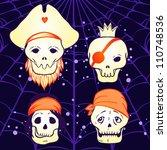 halloween illustration  pirate... | Shutterstock .eps vector #110748536