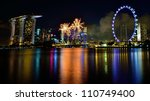 singapore   july 21  fireworks... | Shutterstock . vector #110749400