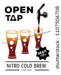 open tap nitro coffee poster...   Shutterstock .eps vector #1107506708
