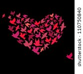 the heart of the birds. can be... | Shutterstock .eps vector #110750840