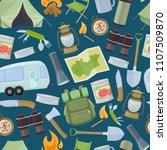 seamless pattern of travel... | Shutterstock . vector #1107509870
