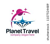 travel plane logo design | Shutterstock .eps vector #1107524489
