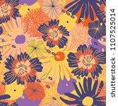 vector flower pattern.... | Shutterstock .eps vector #1107525014