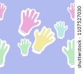 mittens  dashed lines  tags... | Shutterstock .eps vector #1107527030