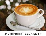 cappuccino or latte coffee with ... | Shutterstock . vector #110752859