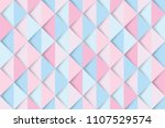 pink and blue triangles... | Shutterstock .eps vector #1107529574