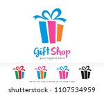 gift shop logo symbol template... | Shutterstock .eps vector #1107534959