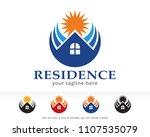 residence logo symbol template...   Shutterstock .eps vector #1107535079