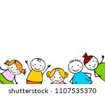 white background with boys and... | Shutterstock .eps vector #1107535370
