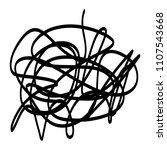 black marker random irregular... | Shutterstock .eps vector #1107543668