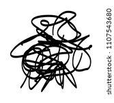 black marker random irregular... | Shutterstock .eps vector #1107543680