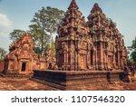 banteay srey   unique temple... | Shutterstock . vector #1107546320