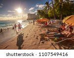 waikiki  oahu  hawaii  united...   Shutterstock . vector #1107549416