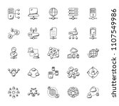 networking doodle icons... | Shutterstock .eps vector #1107549986