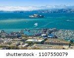 aerial view of alcatraz island  ... | Shutterstock . vector #1107550079