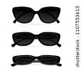 sunglasses. realistic vector... | Shutterstock .eps vector #1107553613