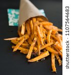 healthy french fries  | Shutterstock . vector #1107564683