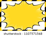 construction frame and comic...   Shutterstock .eps vector #1107571568
