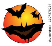 image of bats on the background ... | Shutterstock .eps vector #1107575234
