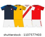 football kit 2018. france ... | Shutterstock .eps vector #1107577403