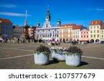 cental town square of ceske...   Shutterstock . vector #1107577679