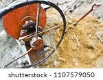 close up. rolling iron for sand ... | Shutterstock . vector #1107579050