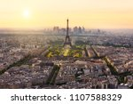 paris skyline with eiffel tower ... | Shutterstock . vector #1107588329