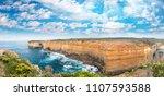 magnificence of great ocean... | Shutterstock . vector #1107593588