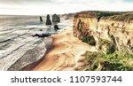 the twelve apostles rocks on... | Shutterstock . vector #1107593744
