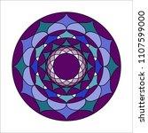 beautiful  vector  mandala... | Shutterstock .eps vector #1107599000