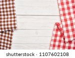 two napkins on a wooden... | Shutterstock . vector #1107602108