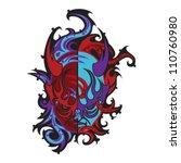 devil face | Shutterstock .eps vector #110760980