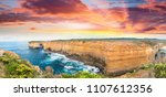magnificence of great ocean... | Shutterstock . vector #1107612356