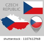 colorful flag  map pointer and... | Shutterstock .eps vector #1107612968