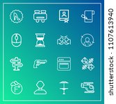 modern  simple vector icon set... | Shutterstock .eps vector #1107613940