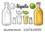 glass  bottle  salt and lime.... | Shutterstock .eps vector #1107615050
