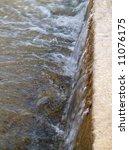 mini waterfall closeup  water...