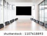 meeting boardroom in high class ... | Shutterstock . vector #1107618893