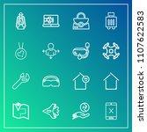 modern  simple vector icon set...   Shutterstock .eps vector #1107622583