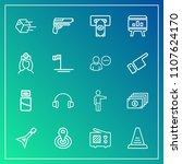modern  simple vector icon set... | Shutterstock .eps vector #1107624170