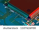 electronic circuit board close... | Shutterstock . vector #1107626930