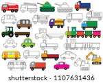 transport. set of cars.... | Shutterstock .eps vector #1107631436