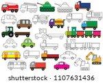 transport. set of cars.... | Shutterstock .eps vector #1107631436