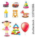 vector toy icons collection | Shutterstock .eps vector #110763386