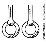 two rings hanging with rope... | Shutterstock .eps vector #1107637853