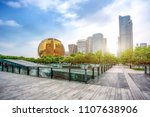 hangzhou financial district... | Shutterstock . vector #1107638906