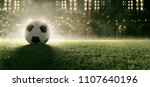 Soccer Ball In Stadium  3d...