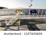 view from ship deck behind the...   Shutterstock . vector #1107643604