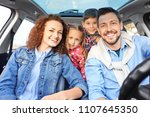 young family with children in...   Shutterstock . vector #1107645350