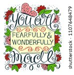 hand lettering you are... | Shutterstock .eps vector #1107648479